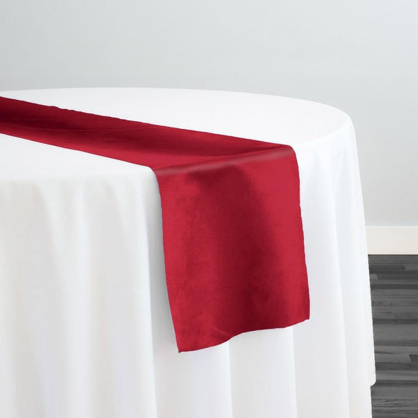 Microfiber Suede Table Runner in Red