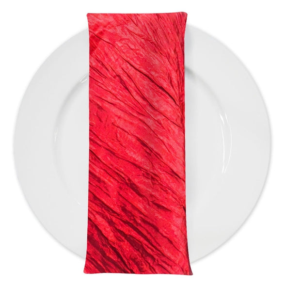 Accordion Taffeta Table Napkin in Red