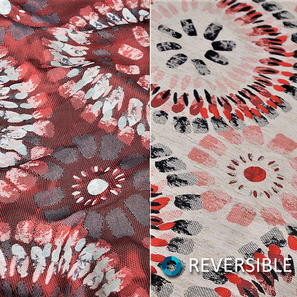 Sundaze Jacquard (Reversible) Wholesale Fabric in Red and Black