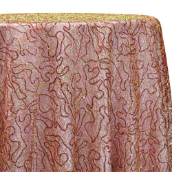 Bedazzle Table Linen in Red and Gold