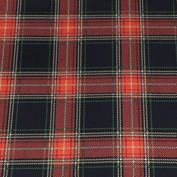 Plaid (Poly Print) Table Runner in Red and Green