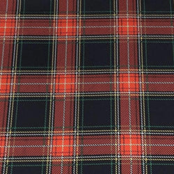 Plaid Poly Print Table Linen in Red and Green