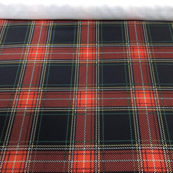 Plaid (Poly Print) Table Napkin in Red and Green