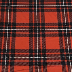 Plaid Poly Print Table Linen in Red and White
