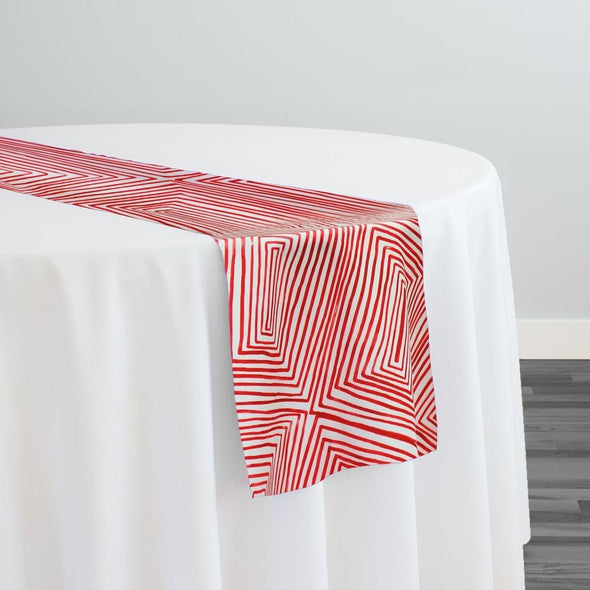 Modena (Poly Print) Table Runner in Red