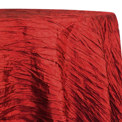 Accordion Taffeta Table Linen in Red