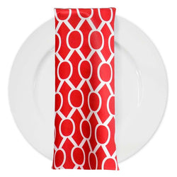 Halo Print Lamour Table Napkin in Red