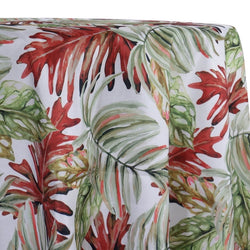 Tropical Print (Dupioni) Table Linen in Red