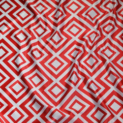 Paragon Print (Lamour) Table Linen in Red