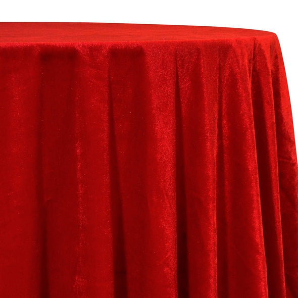 Lush Velvet Table Linen in Red