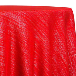 Metallic Burlap (100% Polyester) Table Linen in Red