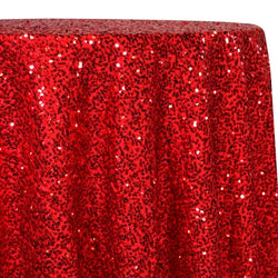 Taffeta Sequins Table Linen in Red
