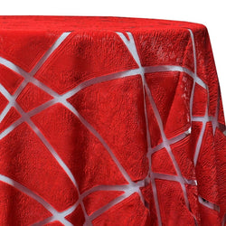 Atlas Sheer Table Linen in Red