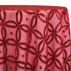 Delano Sequins Table Linen in Red