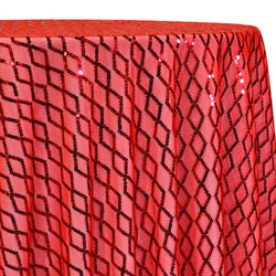 Vortex Sequins Table Linen in Red