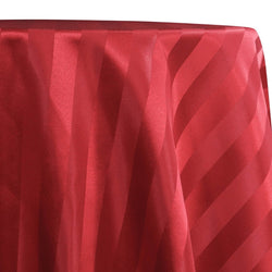 Imperial Stripe Table Linen in Red