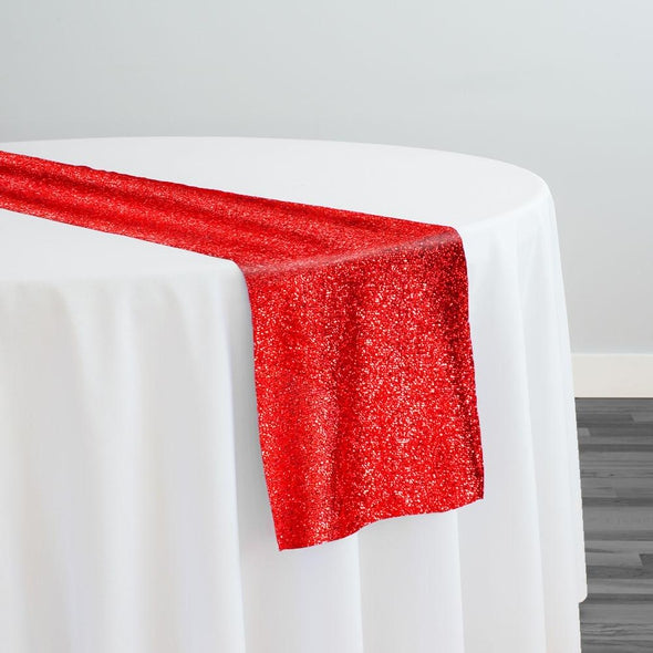 Confetti Metallic Table Runner in Red
