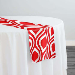 Groovy Print (Lamour) Table Runner in Red
