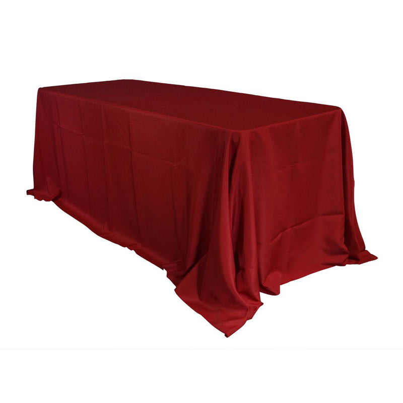 Economy Polyester Poplin Rectangular Tablecloths - Red