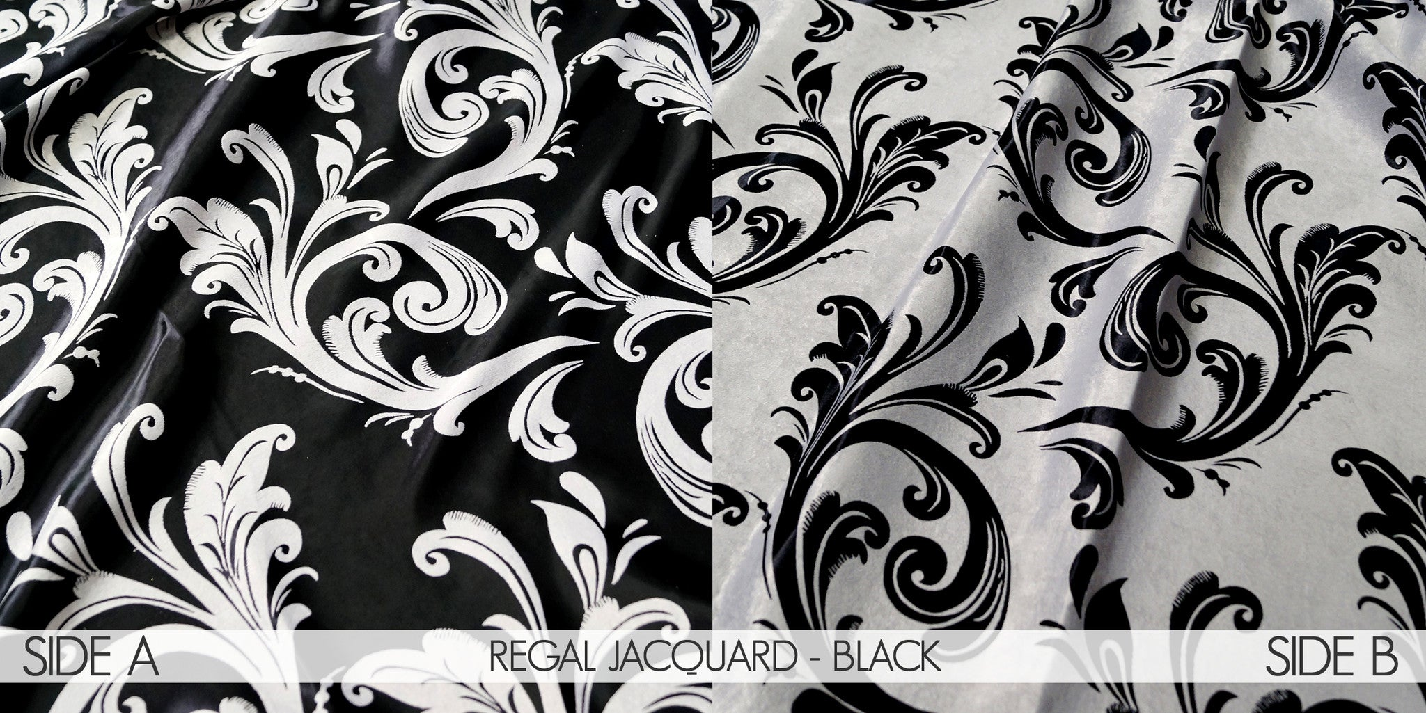 REGAL JACQUARD - BLACK
