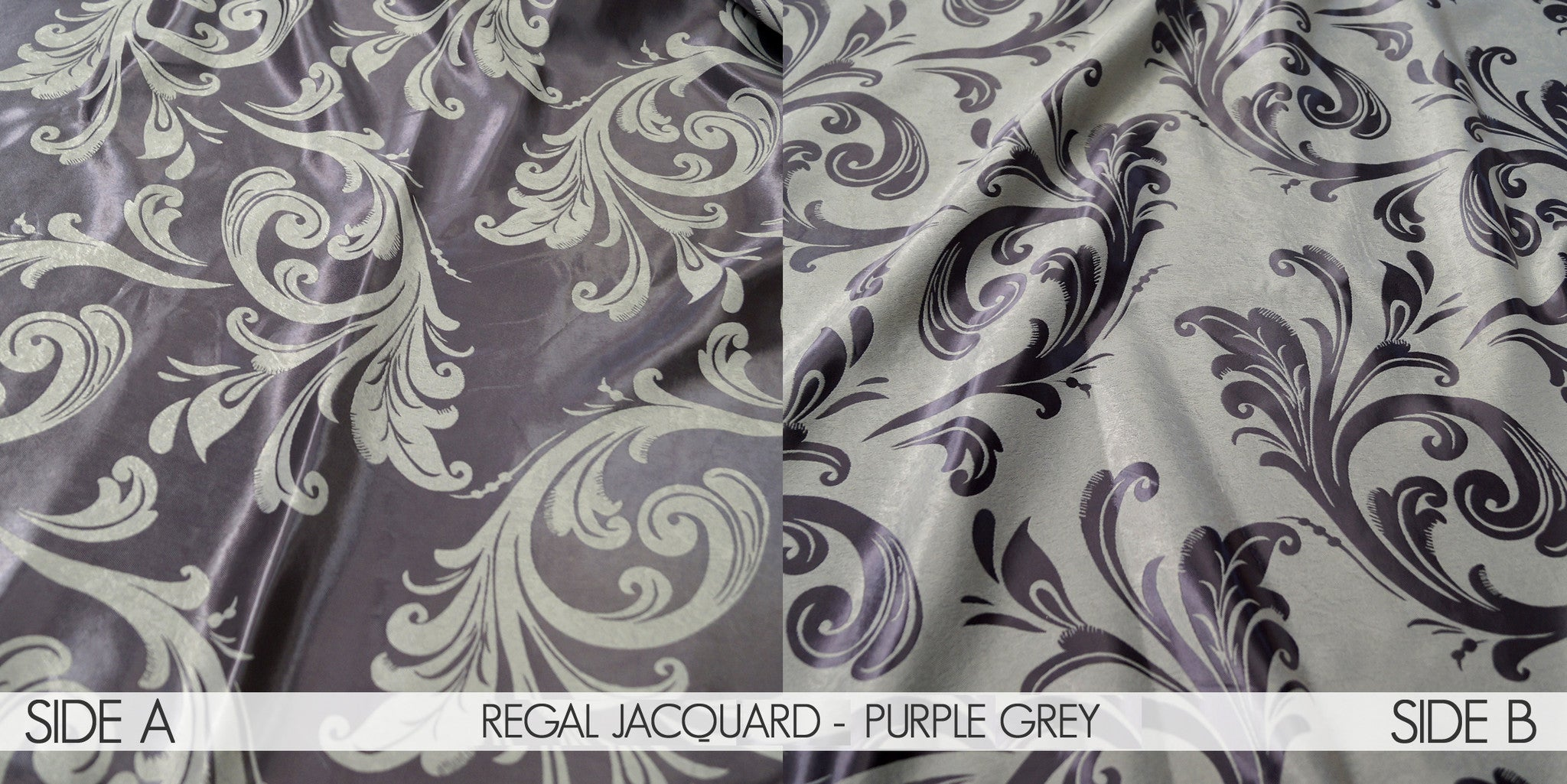 REGAL JACQUARD - PURPLE GREY