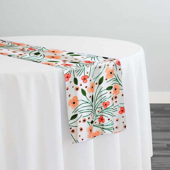 Retro Floral (Poly Print) Table Runner