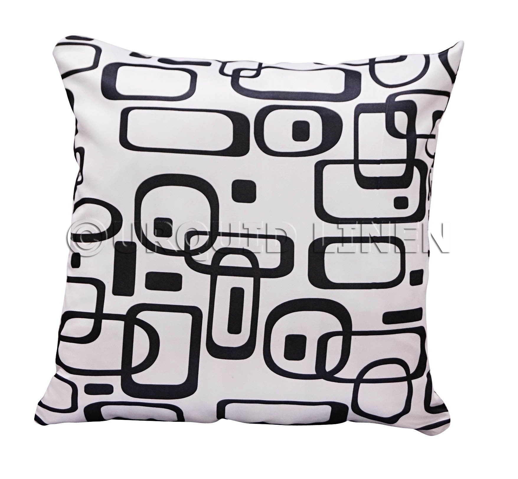 Retro Lamour Print Throw Pillow