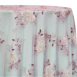 Ribbon Mesh Lace Table Linen in Blush Mix
