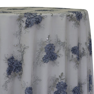 Ribbon Mesh Lace Table Linen in Silver