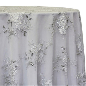 Ribbon Mesh Lace Table Linen in White