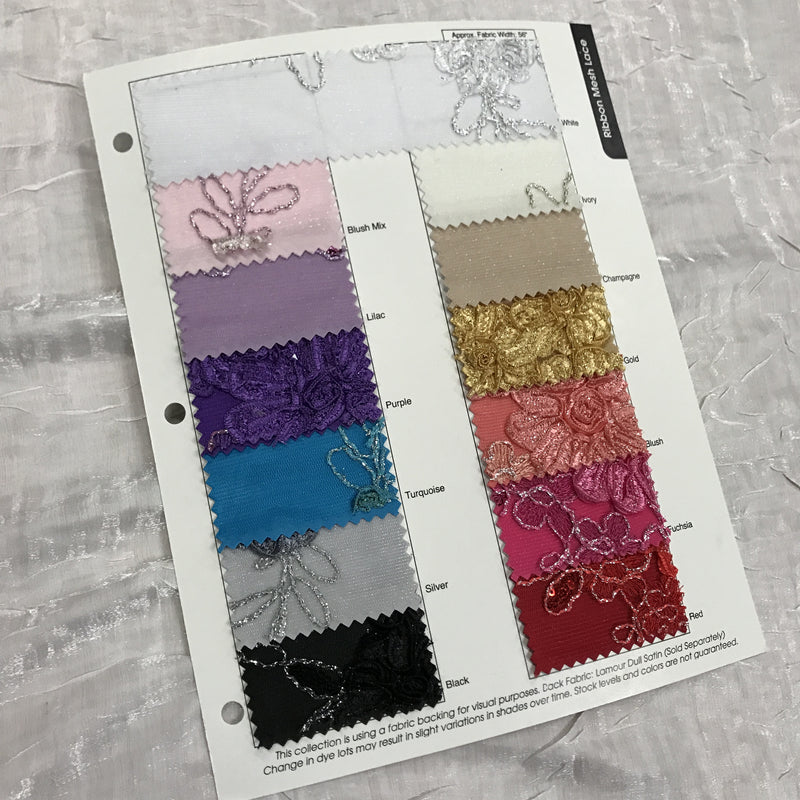 Ribbon Mesh Lace Color Card