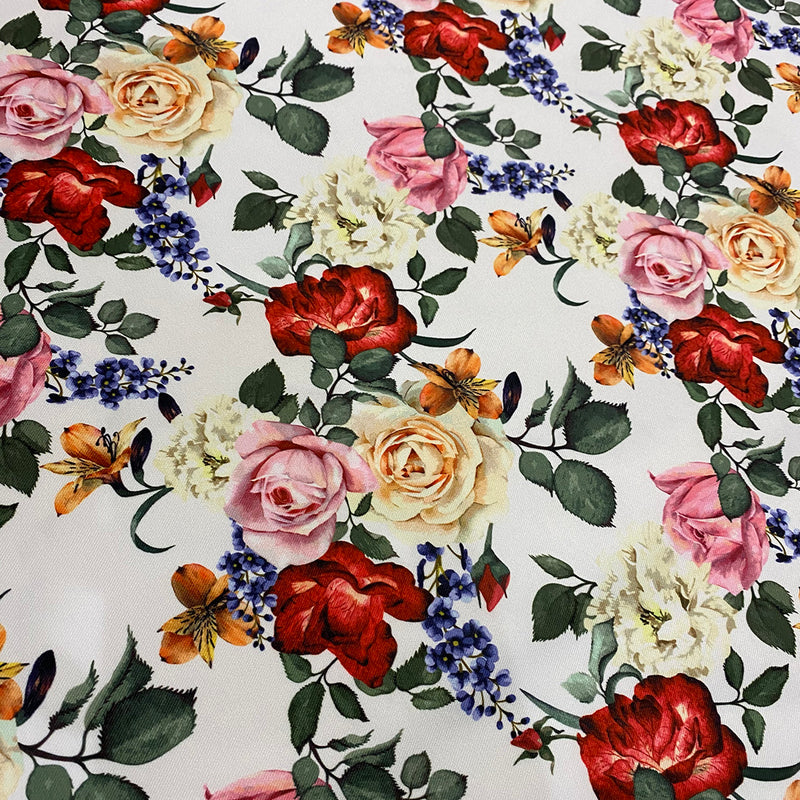 Rose Garden Poly Print Wholesale Fabric
