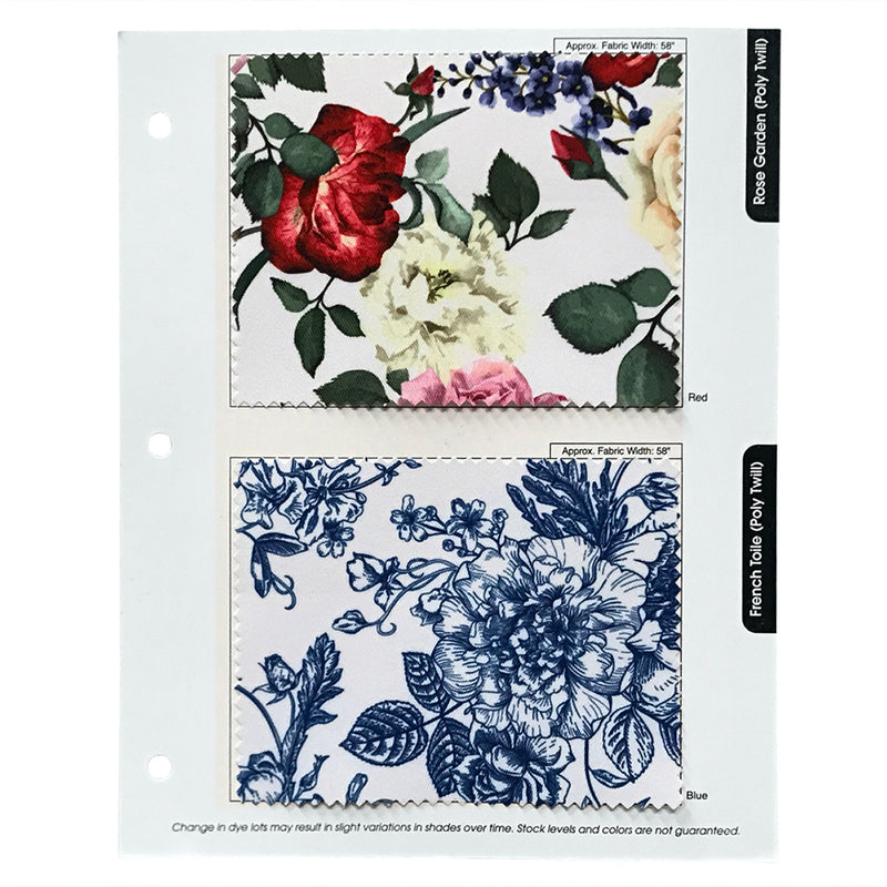 "Rose Garden Poly Print Drapery Panels (58"" Wide) / 1 Print"