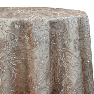 Marigold Sequins Table Linen in Rose Gold