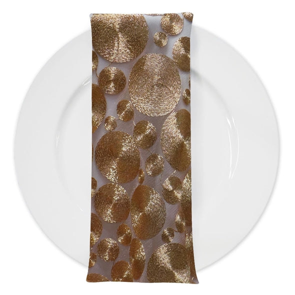 Coin (w/ Poly Lining) Table Napkin in Rose Gold