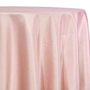 Lamour (Dull) Satin Table Linen in Rose Petal 1900