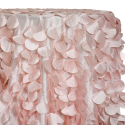 Funzie (Circle Hanging) Taffeta Table Linen in Rose Petal
