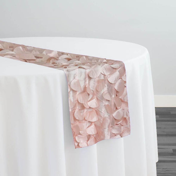 Funzie (Circle Hanging) Taffeta Table Runner in Rose Petal