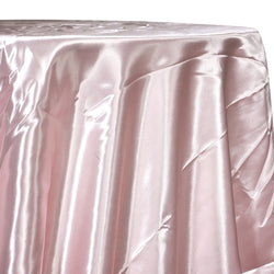 Bridal Satin Table Linen in Rose Powder 318