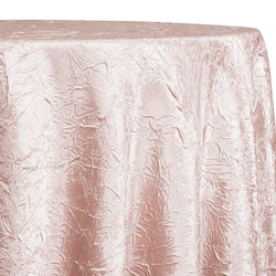 Crush Satin (Bichon) Table Linen in Rose Powder