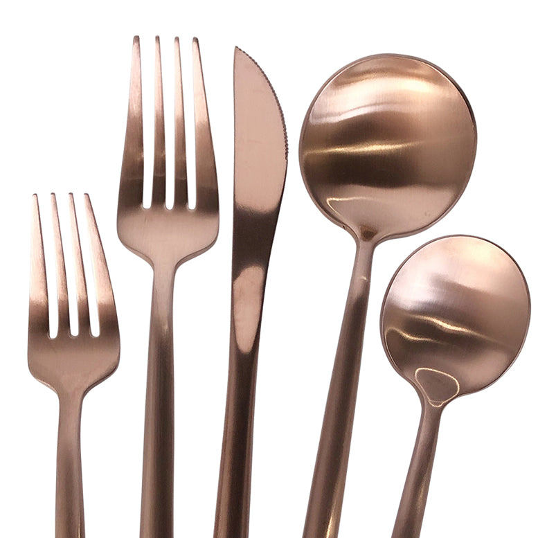 Luna Klasik - Flatware/Cutlery Set in Rose Gold