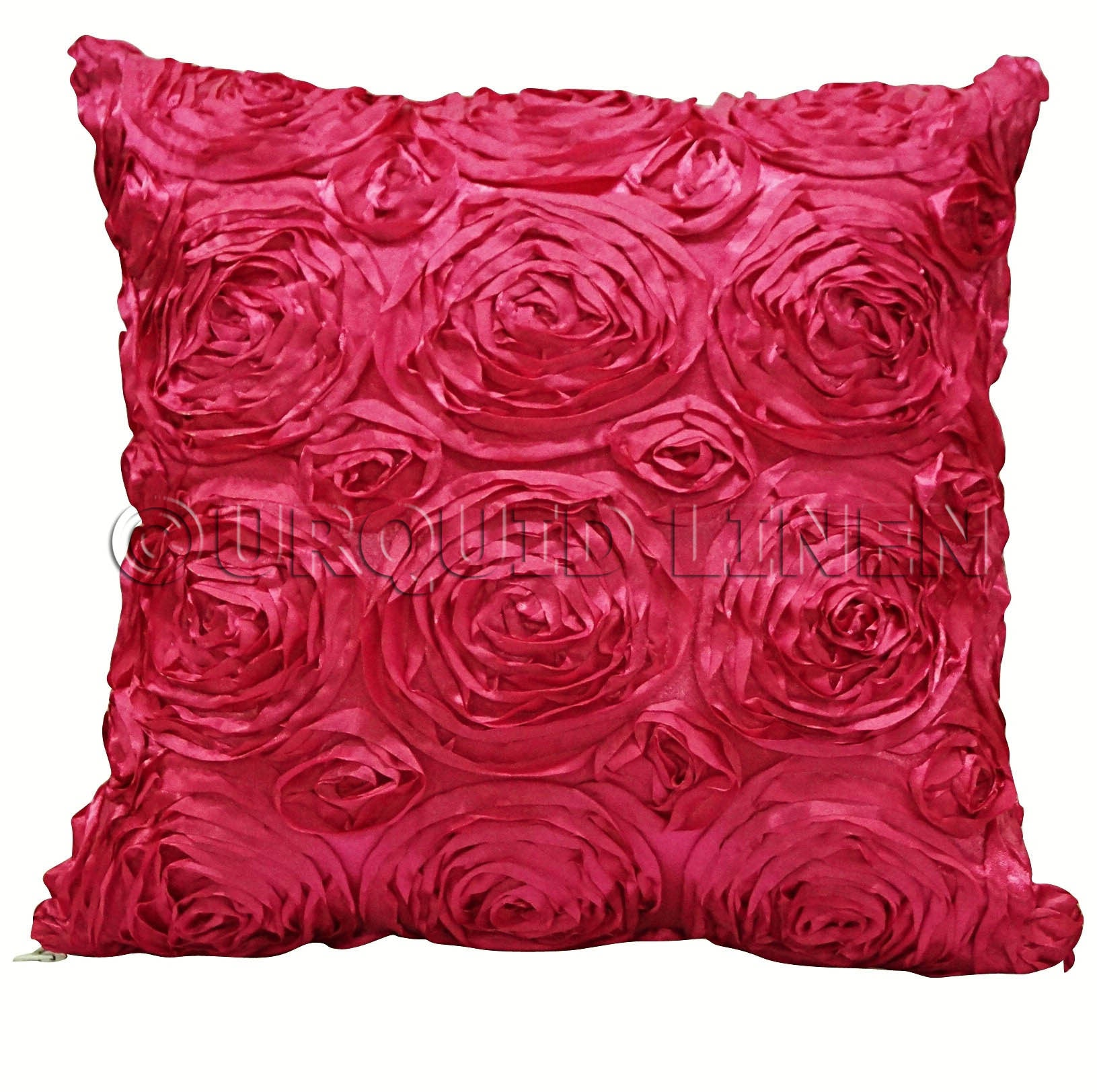 Rose Satin (3D) Throw Pillow