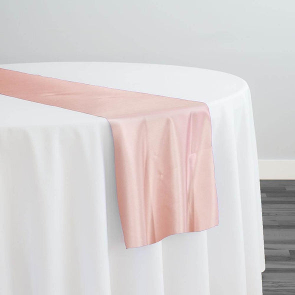 Lamour (Dull) Satin Table Runner in Rose Petal 1900