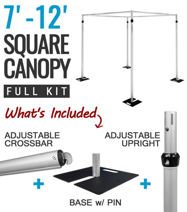 Square Pipe Hardware Drape Kit (Complete Kit)