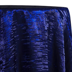 Crush Shimmer (Galaxy) Table Linen in Royal 2