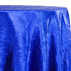Crush Satin (Bichon) Table Linen in Royal 340
