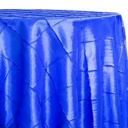 "4"" Pintuck Taffeta Table Linen in Royal"
