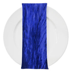 Accordion Taffeta Table Napkin in Royal