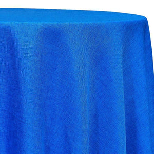 Imitation Burlap (100% Polyester) Table Linen in Royal