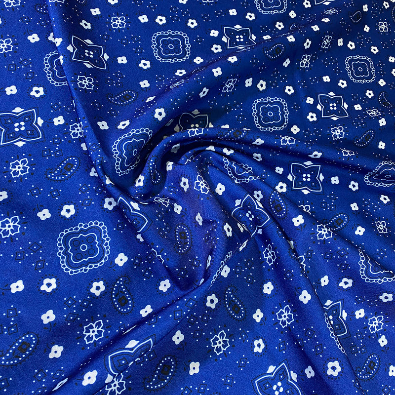 Bandana Print Table Napkin in Royal